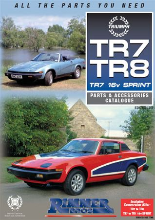 Rimmer Bros Triumph TR7/TR8 Catalogue (1975-1981) 210 Pages