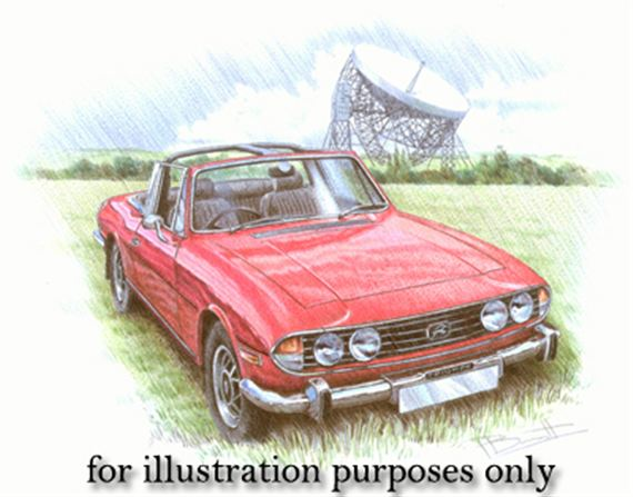 triumph dolomite sprint 12 x10 mounted personalised portrait in colour reg no and colour. Black Bedroom Furniture Sets. Home Design Ideas