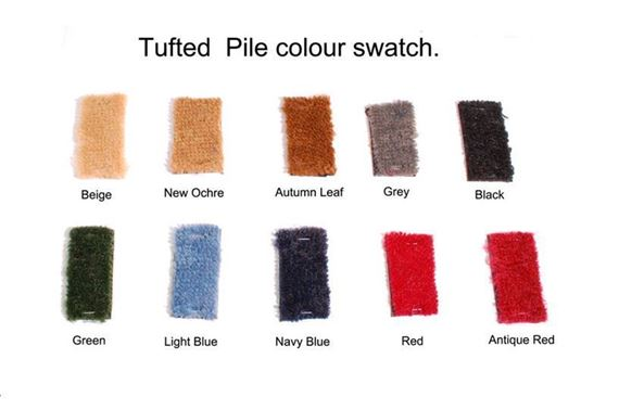 Triumph Spitfire Carpet Sets - Tufted Pile and Luxury Wool (1500)