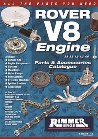 Rimmer Bros Rover V8 Engine Catalogue - 88 Pages