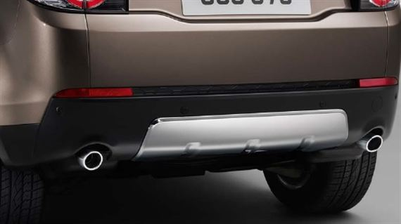 Stainless Steel Rear Undershield - Genuine Land Rover