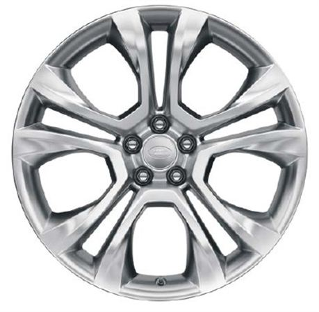 20 Inch Alloy Wheel - 5 Split Spoke - Style 524 - Satin Polished Finish - Genuine Land Rover