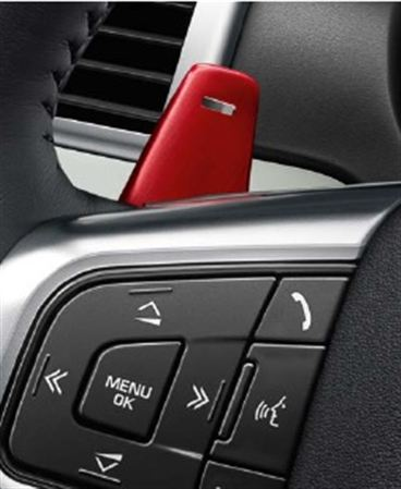 Gearshift Paddle - Aluminium Red - Genuine Land Rover
