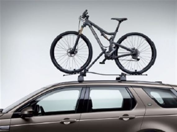 Roof Mounted Bike Carrier - Fork Mounted and Wheel Carrier - Genuine Land Rover