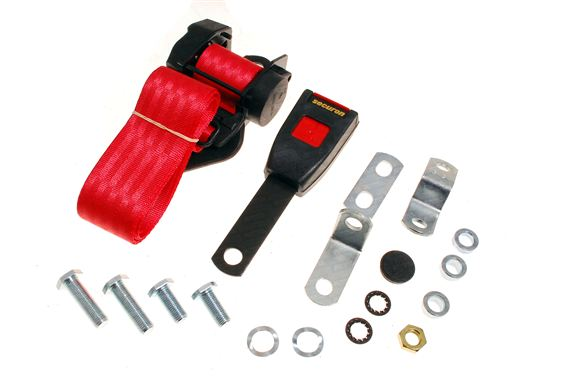 Securon - 500/15 - Front Seat Belt Kit - Inertia Type - 15cm Stalk - Each - Red - XKC252815RED