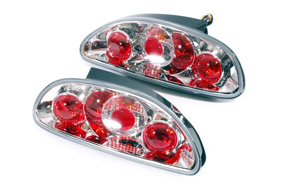 Chrome Lexus Style Rear Lamps - Pair - MGF and MGTF - XPT000152ACAP