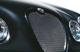 Upper Mesh Grille - Bright Finish with Primed Surround - XR847243XXX - Genuine Jaguar