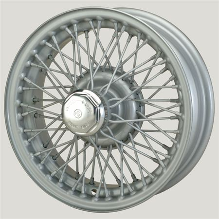 MWS Centre Lock Tubeless Wire Wheel - Silver Painted - 60 Spoke - 4.5J x 14 inch - XW515P