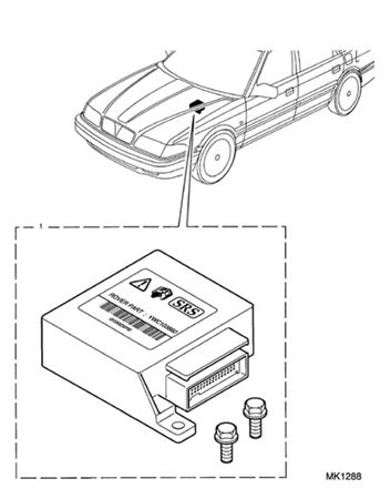 Kit-control and diagnostic air b - YWJ101140 - Genuine MG Rover