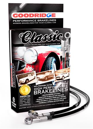 Goodridge Classic Braided Brake Hose Kit - Jaguar MKIX 1961