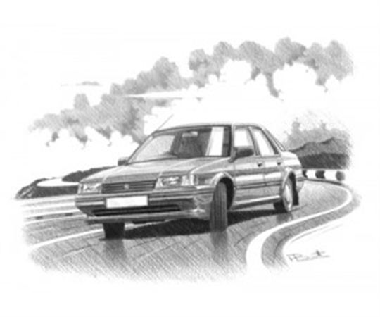 MG Montego Efi Personalised Portrait in Black & White - RP1627BW
