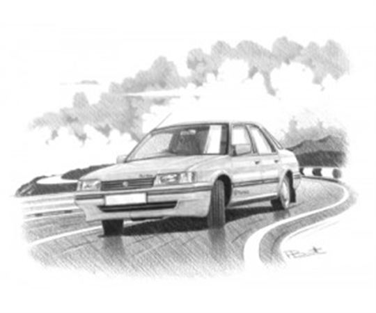 MG Montego Turbo Personalised Portrait in Black & White - RP1628BW