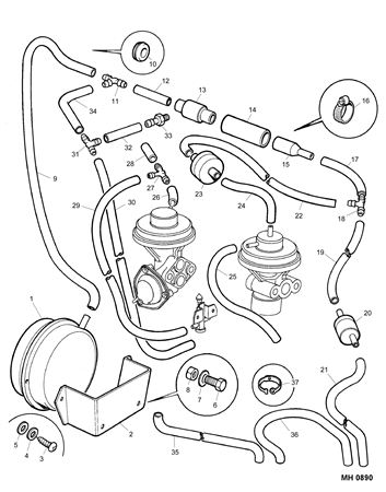 Rover Mini Car Parts Emission Control Pipes and Hoses (3) (Japan)