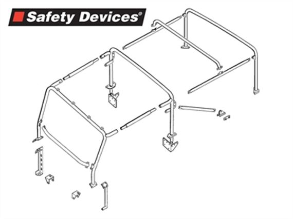 Full Roll Cage 8 Point - RBL1887SSS - Safety Devices