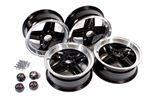 Alloy Wheel Set of 4 - 5.5x13 Black - RB7716 - Revolution