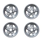5 Spoke Alloy Wheel - Deep Dish - Silver Sparkle - 7Jx16 - Set of 4 - ANR3631MNHK - Genuine