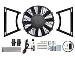Revotec Electronic Cooling Fan Conversion Kit - MGA - with Black Brackets