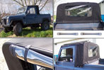 Exmoor Trim - 90-110 Defender - Truck Cab Hoods - Stayfast - Black