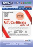 Rimmer Bros £100.00 Gift Certificate - GIFT CERTIFICATE 100