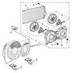 Rover 400/45/MG ZS Condenser and Fan 2000/2500 V6