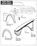 Triumph Stag Front Wing and Repair Panels