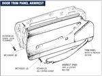 Triumph Stag Door Trim Panel Armrests (All Models)