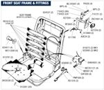 Triumph Stag Front Seat Frame and Fittings (All Models)