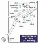 Triumph Vitesse Brake Pedal Fittings