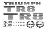 Triumph TR8 V8 Transfers