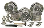 MWS Centre Lock Wire Wheels - Centrelace - Chrome Conversion Kit - 5.5 x 15 with Two Eared Centres