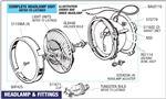 Triumph Dolomite Headlamp Fittings
