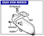 Triumph 2000/2500/2.5Pi Rear View Mirror
