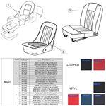 Midget MkII (G-AN-3, 25788 to 52389) Seat Trim