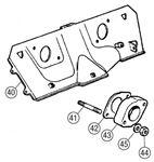 MGB Heatshield & Carburettor Mountings - 4 Cylinder