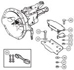 Triumph TR2-3A Gearbox Mountings