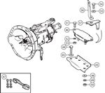 Triumph TR3B-TR4 Gearbox Mountings