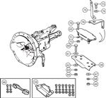 Triumph TR4A Gearbox Mountings