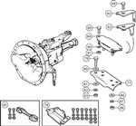 Triumph TR5-250 Gearbox Mountings