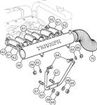 Triumph Air Manifold - TR5 Non Air Bleed and TR6 Air Bleed - 6 Cylinder