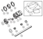 Triumph TR2-3B (TSF) Gearbox Overhaul Kits - Non Overdrive - 3 Synchro