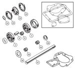 Triumph TR2-3B (TSF) Gearbox Overhaul Kits - A Type Overdrive - 3 Synchro