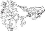 Triumph TR4A-5-250 Carrier and Differential Gears - IRS