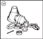 Triumph TR2-5 Driveshaft Rebuild Kit