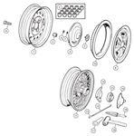 Triumph TR2-5 Steel Wheels