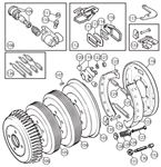 Triumph TR3 from TS13046, TR3A-250 Rear Drum Brakes - Girling