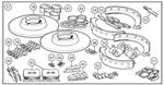 Triumph TR3A from TS56377, TR3B TSF Series, TR4 to CT4387 Brake Overhaul Kits - Full
