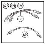 Triumph TR2-5 Brake and Clutch Hoses - Standard