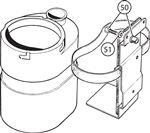 Triumph TR5-250 Washer Bottle Attachments - Original Style