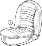 Triumph TR3A Front Seat Cover Kits