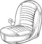 Triumph TR4 to CT15273 Front Seat Cover Kits